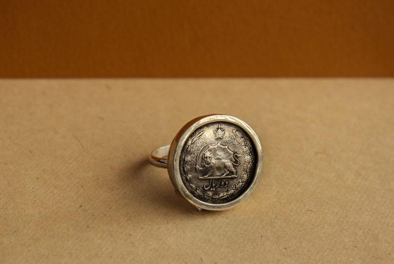 انگشتر سکه مردانه کد 155