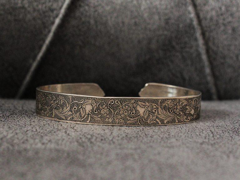 دستبند تمام نقره مردانه کد150