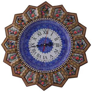ساعت دیواری خاتم کاری و میناکاری کد 273
